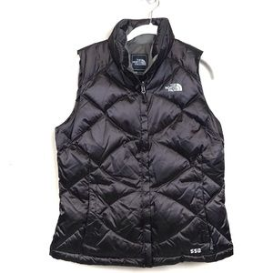 The north face brown goose down quilted vest
